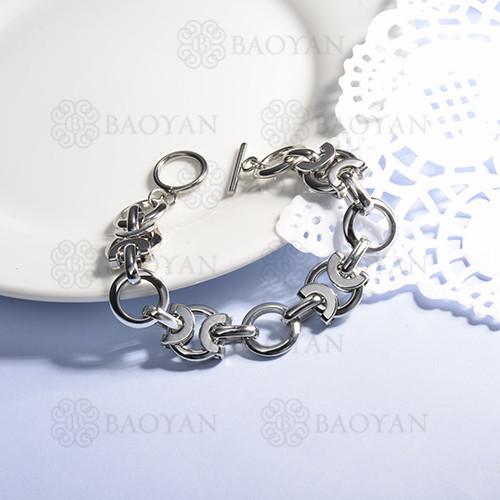 pulsera de acero inoxidable para mujer -SSBTG143-15377-S