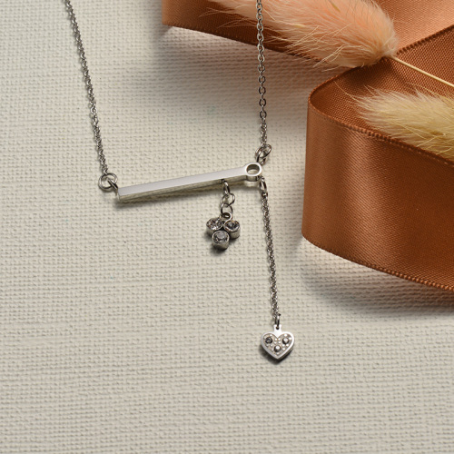 Collar de plata con diamantes de estilo individual de moda