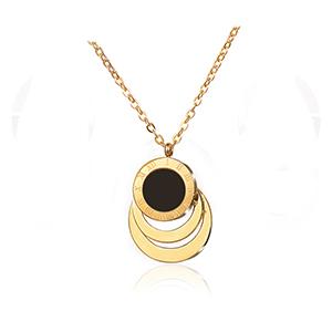 Collar de oro estilo romano vintage