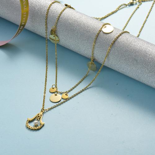 Collier en or avec pendentif fantaisie
