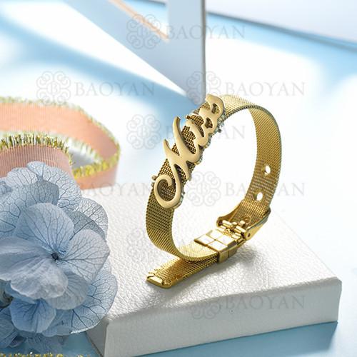 pulsera de charm en acero inoxidable para mujer -SSBTG142-16126-G