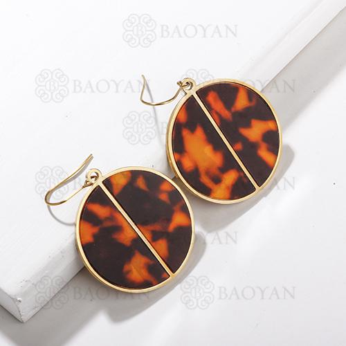 Pendientes de declaración de leopardo de acero inoxidable con diseño de joyería chapados en oro