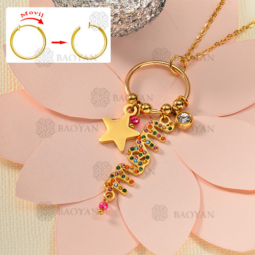 Fashion letter style gold necklace