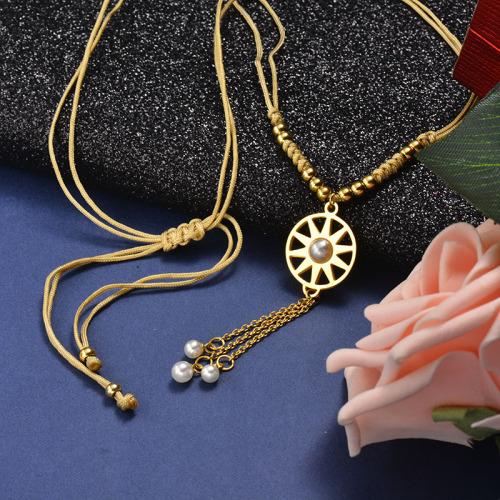Collar redondo de perlas estilo moda