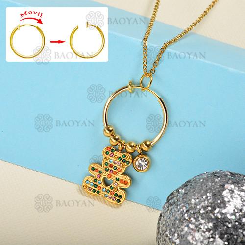 Collar de oro estilo diamante de color de moda