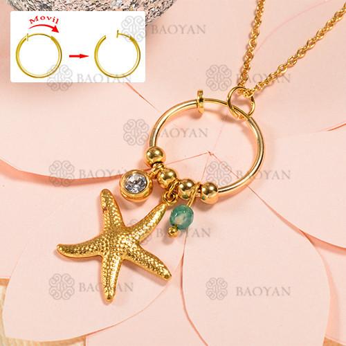 Collar de oro estilo estrella de mar de moda