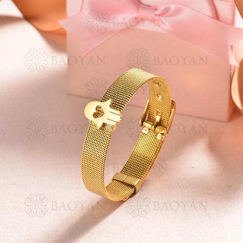pulsera de charm en acero inoxidable para mujer -SSBTG142-16141-G
