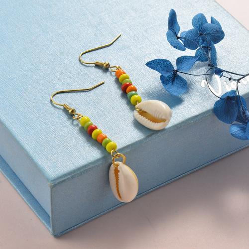 Pendientes de diseño de concha de joyería de acero inoxidable Accesorios de Shell