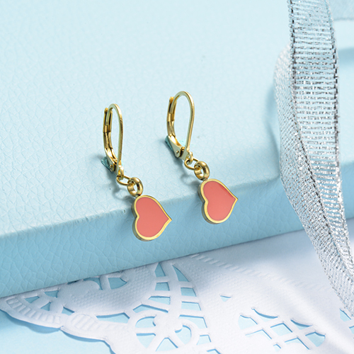 Gold Plated Jewelry Design Fashion Cute Style Heart Earrings