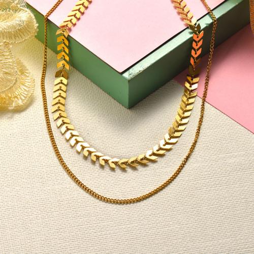 Collar de oro con capas de estilo de moda