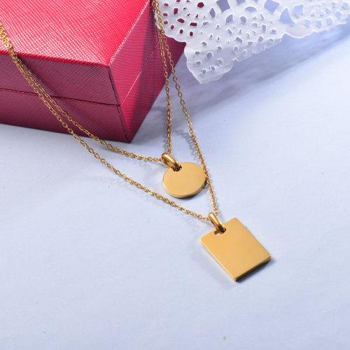 Collar de oro multicapa de estilo simple