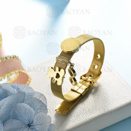 pulsera de charm en acero inoxidable para mujer -SSBTG142-16152-G