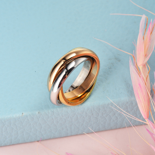 Wholesale Stainless Steel  Gold Plated Simple Promise Rings
