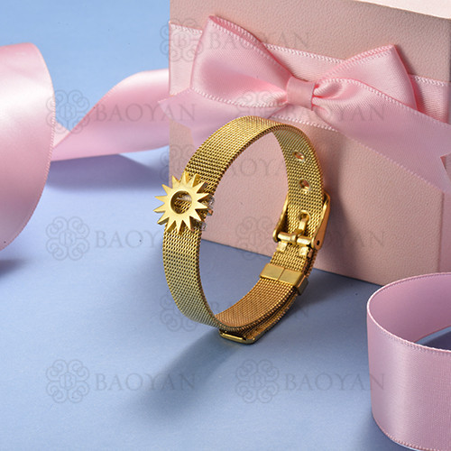 pulsera de charm en acero inoxidable para mujer -SSBTG142-16145-G