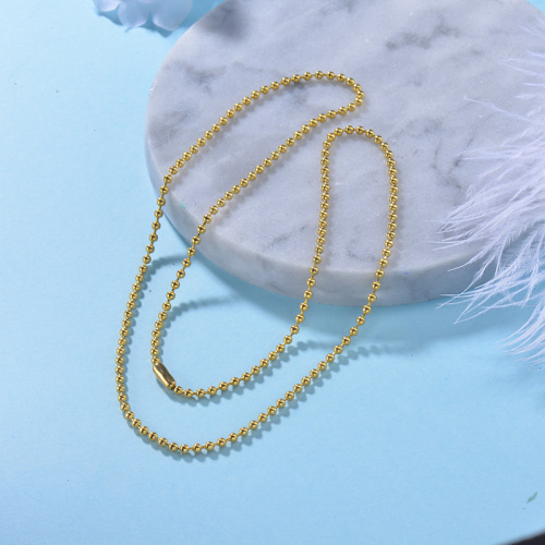 women gold plated ball gold necklace