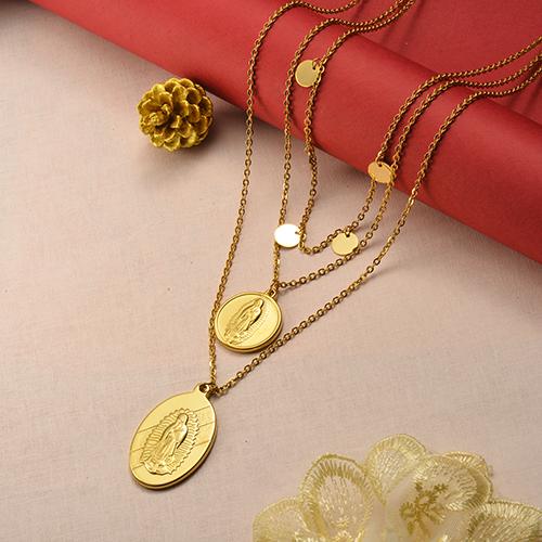 Collar de oro multicapa estilo Notre Dame Fashion