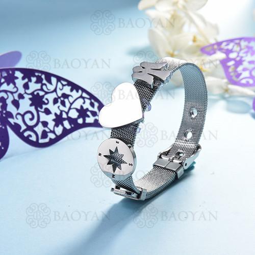 pulsera de charm en acero inoxidable para mujer -SSBTG142-16171-S