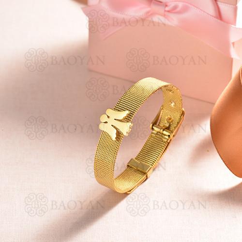 pulsera de charm en acero inoxidable para mujer -SSBTG142-16147-G