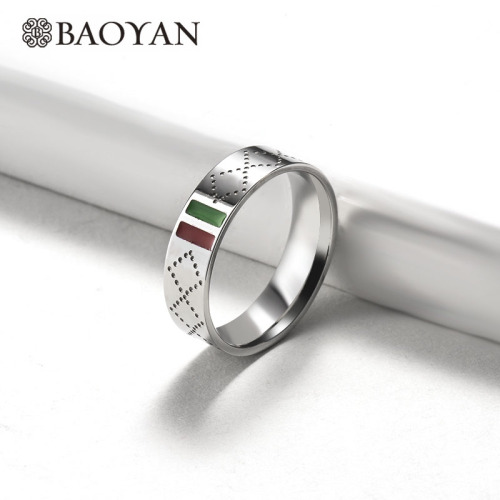 Wholesale Stainless Steel Fashion Famous Brand Silver Wedding Ring
