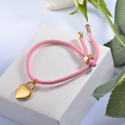Bijoux fantaisie Bracelet chaîne de verrouillage coeur plaqué or