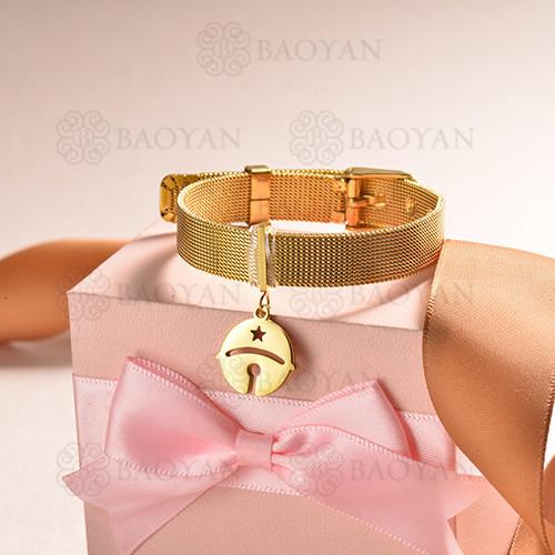 pulsera de charm en acero inoxidable para mujer -SSBTG142-16179-G