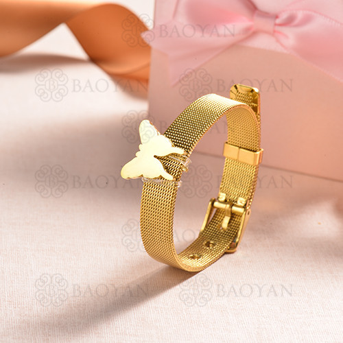 pulsera de charm en acero inoxidable para mujer -SSBTG142-16175-G