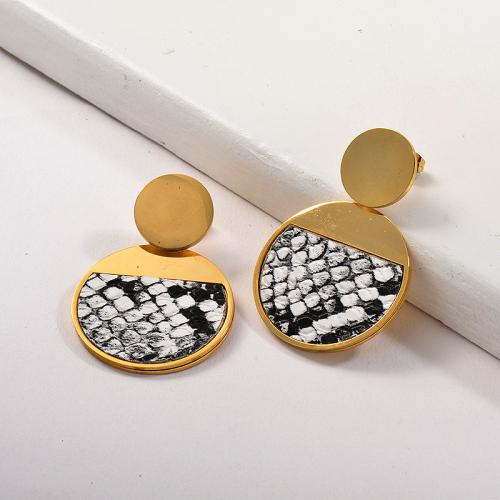 Joyas chapadas en oro Pendientes de arcilla polimérica de acero inoxidable