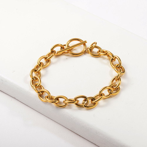 Bracelet en acier inoxydable or de style chaîne de mode