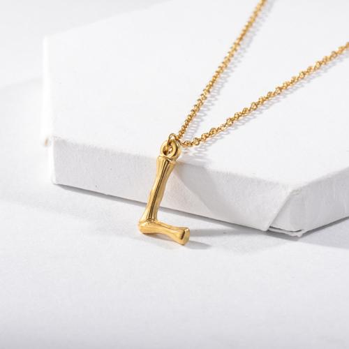 Collar Inicial Letra L Para Niña Chapado En Oro