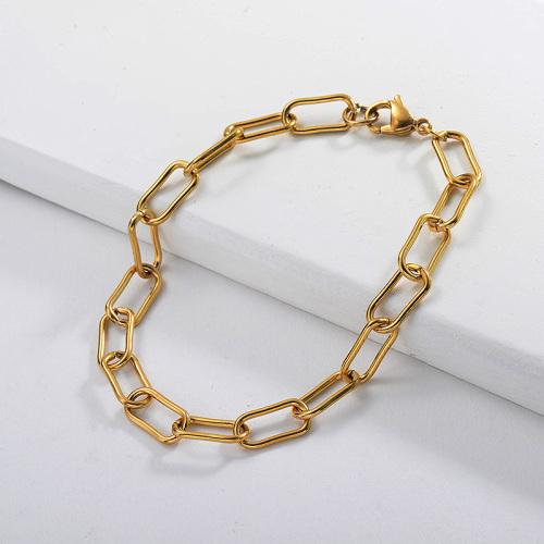 Popular pulsera de oro de acero inoxidable en forma de U