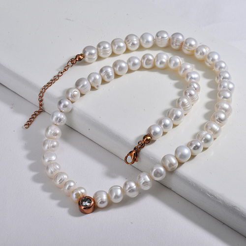 Vintage Natural Freshwater Pearl Beaded Statement Necklace