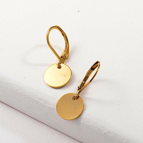 Joyas chapadas en oro Siemple Design Pendientes de oro de acero inoxidable