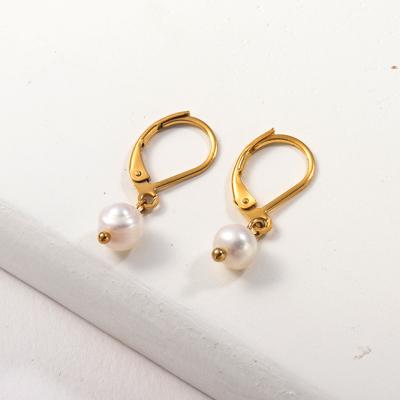 مطلية بالذهب تصميم مجوهرات أقراط من الفولاذ المقاوم للصدأ على الموضة