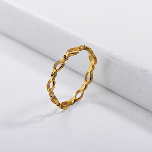 Stainless Steel Famous Brand Gold Simple Wedding Ring Designs