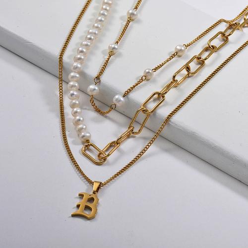 Collares de Acero Inoxidable para Mujer -SSNEG142-26659