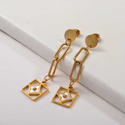 Bijoux plaqués or Boucles d'oreilles en or en acier inoxydable