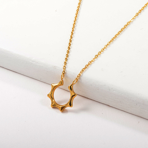 Gold Dainty Irregular Geometry Charm Necklace For Women