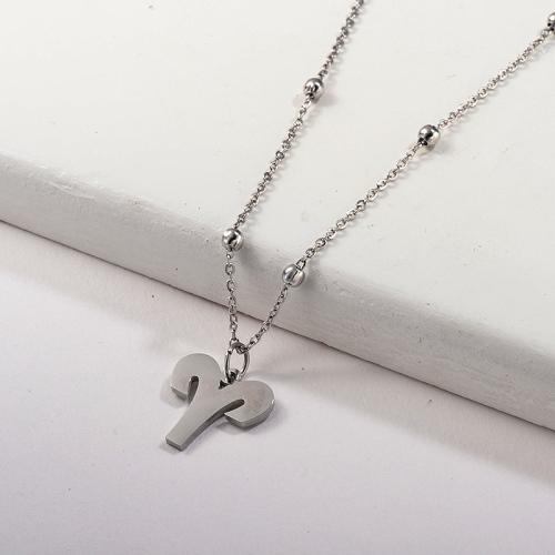 Collar de plata del zodiaco de la cadena de la bola del encanto de la constelación de Aries de la moda