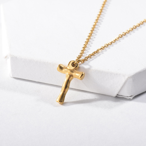 Vintage Gold Plated Letter T Pendant Necklace For Women