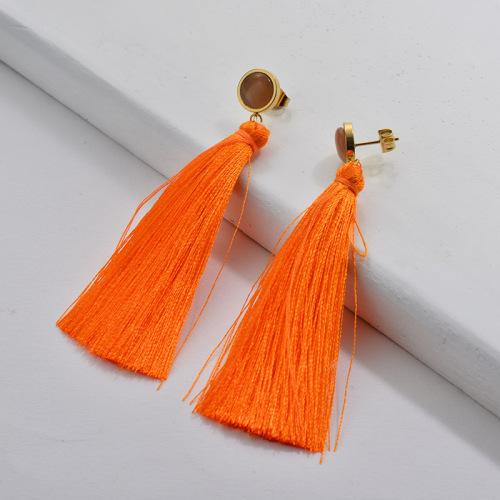 Tassel Earrings Orange Tassel moden fashion