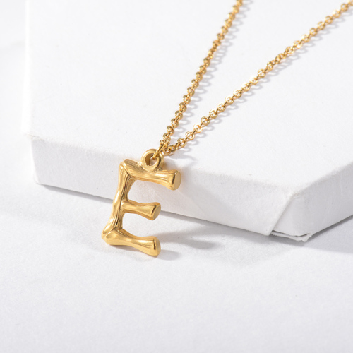 Vintage Letter E Initial Necklace For Women
