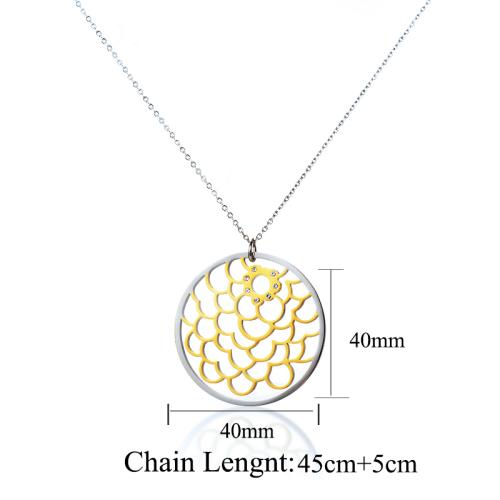 Collar de plata con corona de estilo de moda