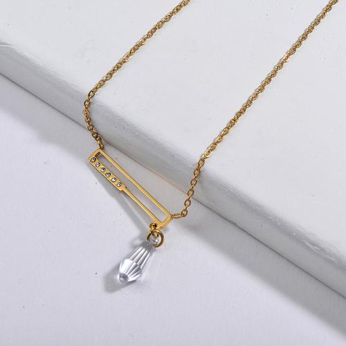 Collar de oro de diamantes de imitación de estilo de moda