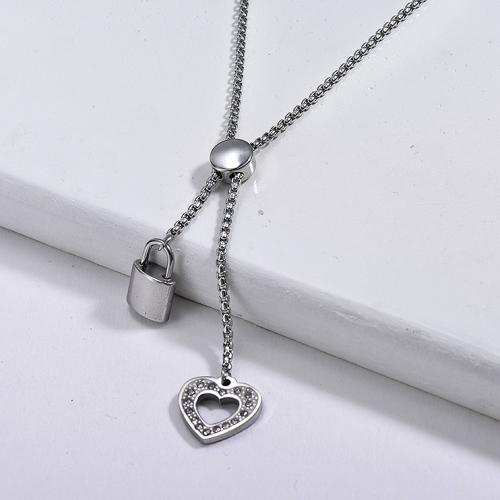 Collar de plata dividida estilo moda
