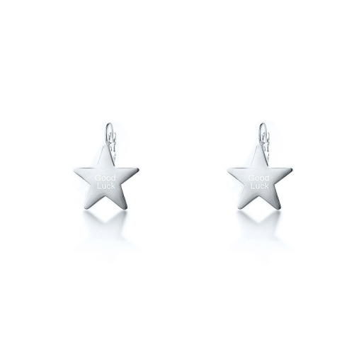 Silver Plated Stainless Steel Jewelry  Personality Siempre Style Star Earrings