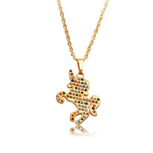 Collar de oro de estilo de diamante de arcilla de color simple de moda