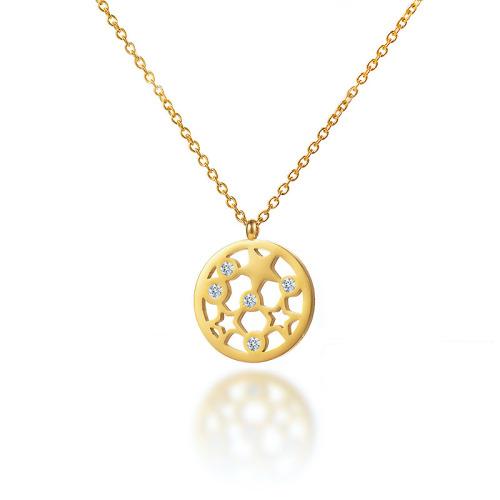 Collar de oro de estilo moderno con diamantes