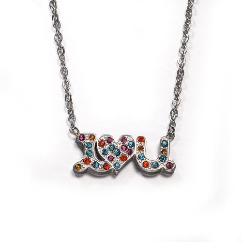 Collar de plata estilo diamante de color de moda