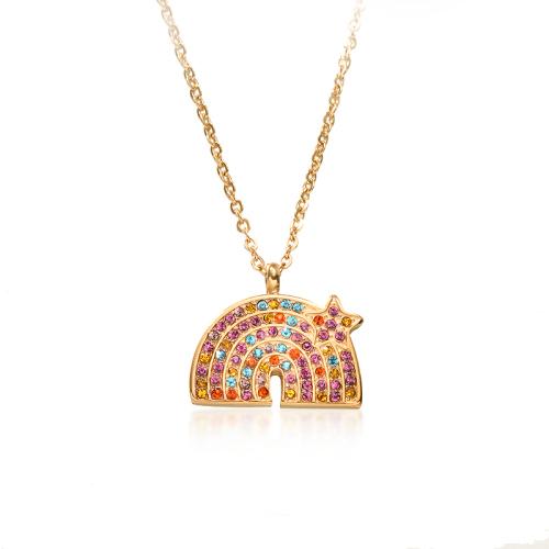 Collar de oro rosa de estilo de diamante de arcilla de color simple de moda
