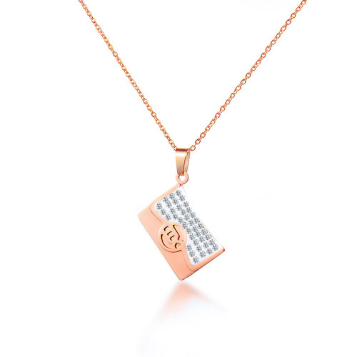 Fashion style rose gold necklace